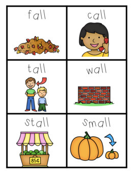 LL Word Family Centers and Printables