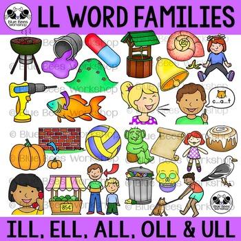 LL Word Family Clip Art Bundle