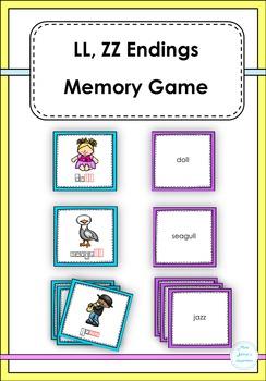 LL, ZZ Endings Memory Game
