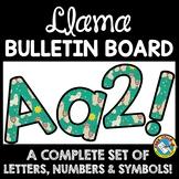 LLAMA CLASSROOM DECOR THEME: LLAMA BULLETIN BOARD LETTERS PRINTABLE, NUMBERS