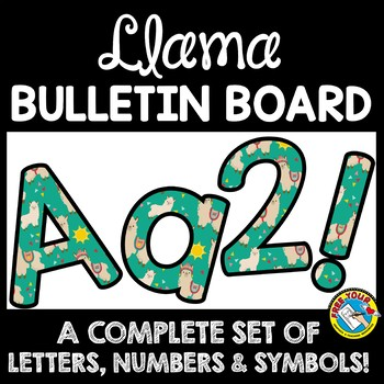 LLAMA CLASSROOM DECOR THEME: LLAMA BULLETIN BOARD LETTERS PRINTABLE, NUMBERS