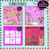 LLAMA  Clip Art and Coloring Pages Bundle