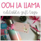 LLAMA GIFT TAGS (EDITABLE)