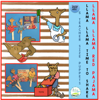 51c0a6376c LLAMA LLAMA RED PAJAMA   TIME TO SHARE by Book Units by Lynn
