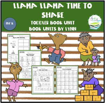 7d79c5b9d0 LLAMA LLAMA TIME TO SHARE TODDLER BOOK UNIT by Book Units by Lynn