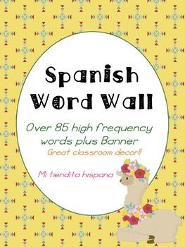 LLAMA SPANISH CLASS DECOR: VERB & WORD WALL, USEFUL PHRASES, & QUESTION WORDS