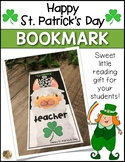 LLAMA St. Patrick's Day Bookmark for Kids! Reading Gift