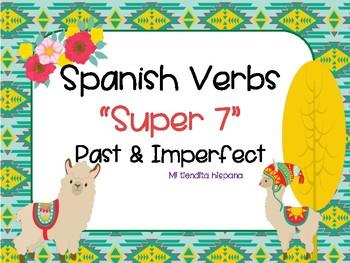 "LLAMA THEMED SPANISH ""SUPER 7"" VERBS PAST/ IMPERFECT TENSE"