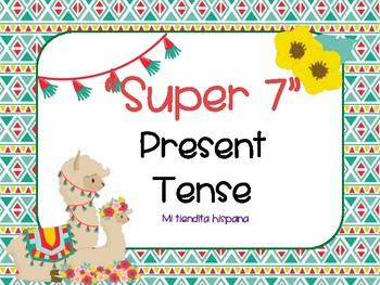 "LLAMA THEMED SPANISH ""SUPER 7"" VERBS PRESENT TENSE"