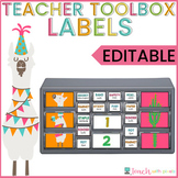 LLAMA and CACTUS Teacher Toolbox Labels EDITABLE