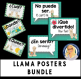 LLAMA poster bundle - Question Words and Rejoinders