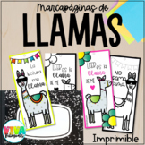 LLAMAS Bookmarks in Spanish