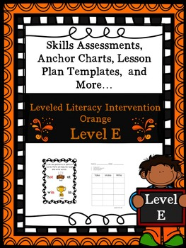 LLI Anchor Charts Skill Assessment Lesson Plan Template Orange E 1st Edition