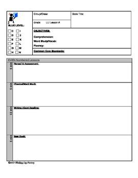 LLI BLUE Even Lesson Plan Template-Microsoft Word version