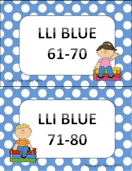 LLI BLUE System Book Basket Labels