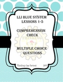 LLI BLUE System Multiple Choice Questions Lessons 1-5