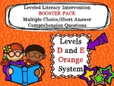 LLI BOOSTER PACK MC Comprehension Assessment Level D E Orange 1st Edition