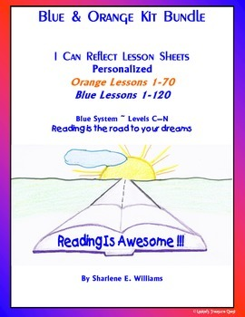 """Blue & Orange Kit  Bundle  """"I Can Reflect"""" Worksheets Bundle"""