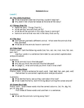 LLI Blue System Comprehension questions books 1-120