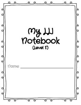 LLI Blue Kit Notebooks Level F-M Bundle