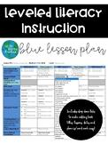 LLI Lesson Plan Template Blue Kit