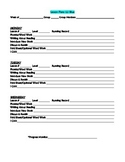 LLI Blue Lesson Plan Template