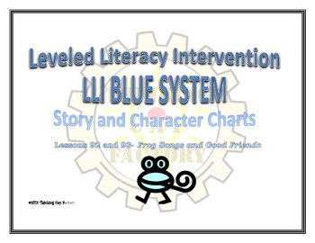 LLI Blue Lessons 92-93 Story and Character Charts FREEBIE