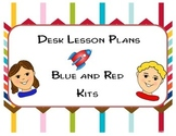 Blue Red Kit Lesson Table Top Lesson Plans