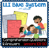 LLI Blue System- Comprehension Questions + Answers- Lesson