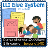 LLI BLUE Comprehension Lessons 11 - 20