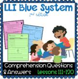 LLI BLUE Comprehension 111 - 120