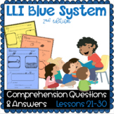 LLI BLUE Comprehension Lessons 21 - 30