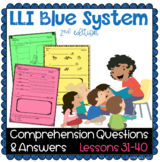 LLI BLUE Comprehension Lessons 31 - 40