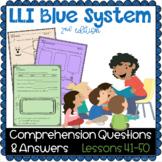 LLI BLUE Comprehension Lessons 41 - 50