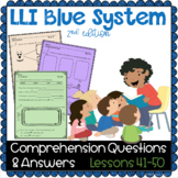 LLI BLUE Comprehension Lessons 41 - 50