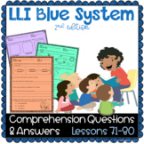 LLI BLUE Comprehension Lessons 71 - 80