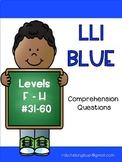 LLI Blue System Comprehension Questions  F - H: Books 31 -