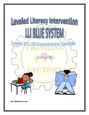 LLI Blue System Comprehension Questions for Lessons 101-110