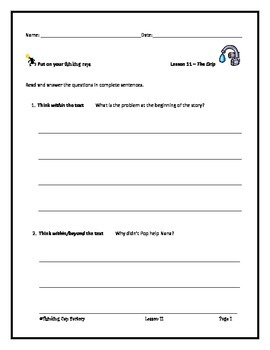 LLI Blue System Comprehension Questions for Lessons 11-20