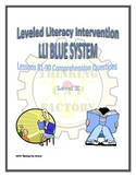 LLI Blue System Comprehension Questions for Lessons 81-90