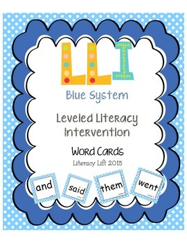 Blue System Word Cards