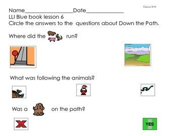 LLI Blue book lesson 6 comprehension questions Down the Path