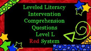 LLI Comprehension Multiple Choice Assessment Level L Red System