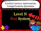 LLI Comprehension Multiple Choice Assessment Level N Red System