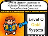 Leveled Literacy Intervention LLI Multiple Choice Short Answer Level O Gold