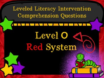 LLI Comprehension Multiple Choice Assessment Level O Red System