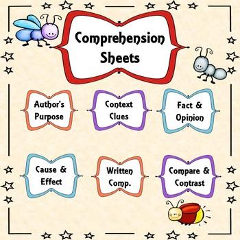 LLI Comprehension Sheets (Red-Books 1-10)