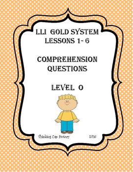 LLI GOLD System Bundle of Comprehension Questions (Vol. 1-Levels O-P)