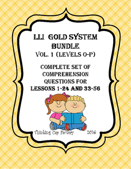 LLI GOLD System Bundle of Comprehension Questions (Vol. 1-