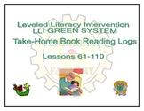 LLI GREEN Take Home Reading Logs (Lessons 61-110)